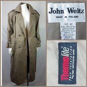 Women's John Weitz Over/Rain Coat Thermolite sz 8P
